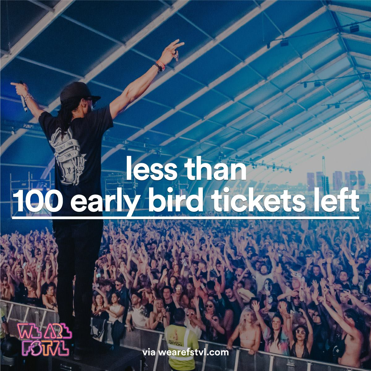 We are FSTVL news:  LESS THAN 100 TICKETS LEFT! Final chance to grab an early bird ticket before th…