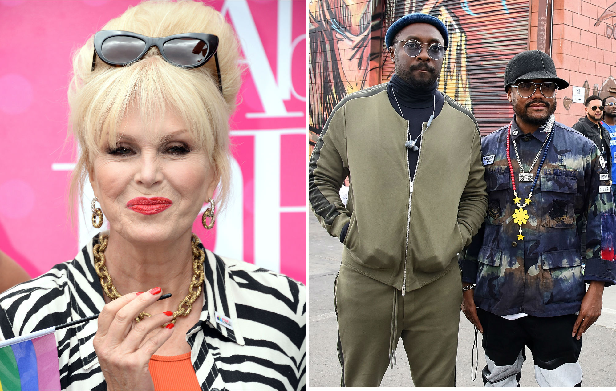 NME Festival blog: Joanna Lumley is hosting a Black Eyed Peas TV special and everyone is confused