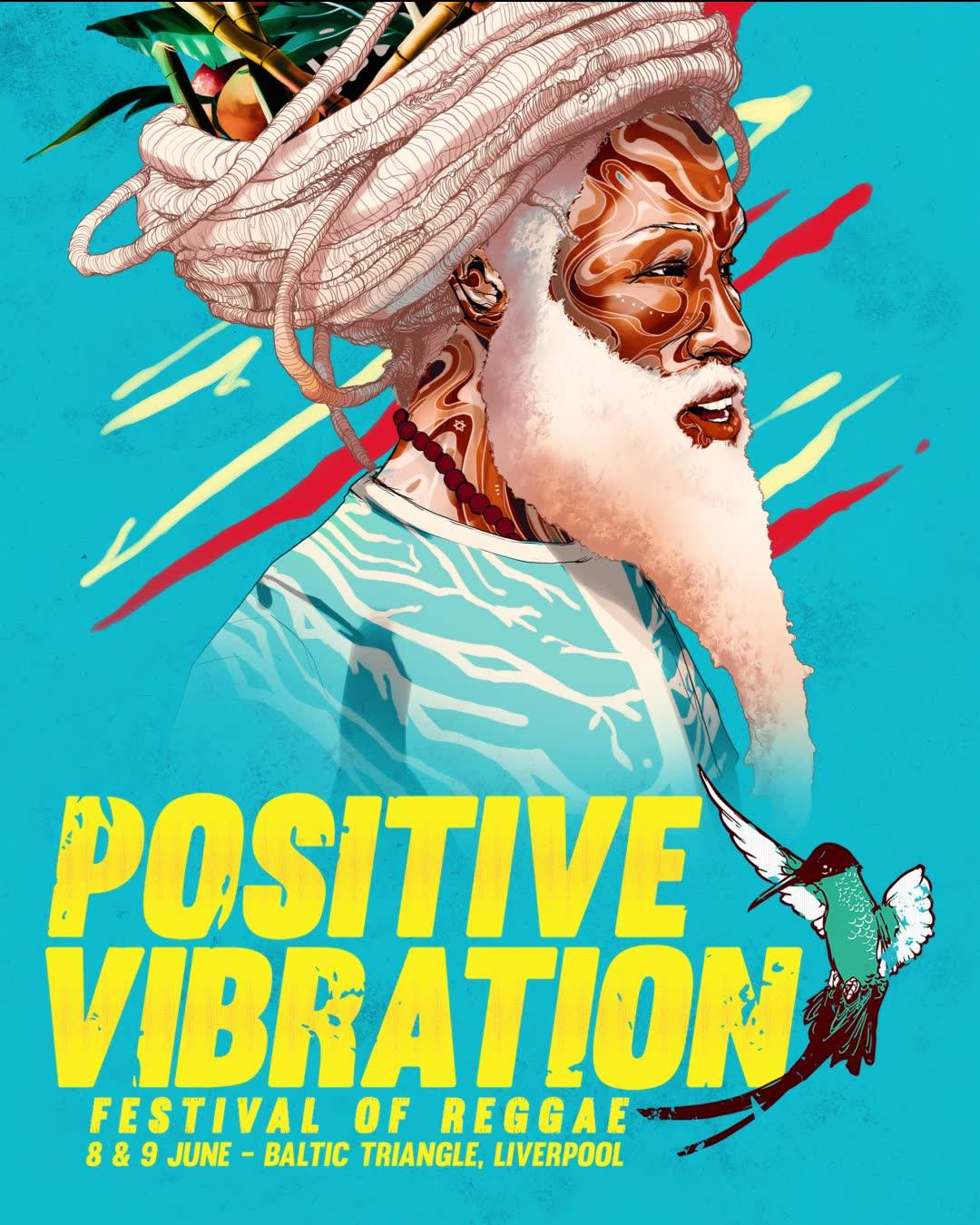 Africa Oye Festival news: MEGA happy to reveal the artwork for this year's Positive Vibration festival pos…