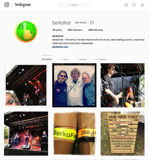 BerkoFest news: Woohoo! We've just squeaked past the 300-follower milestone on Instagram an…