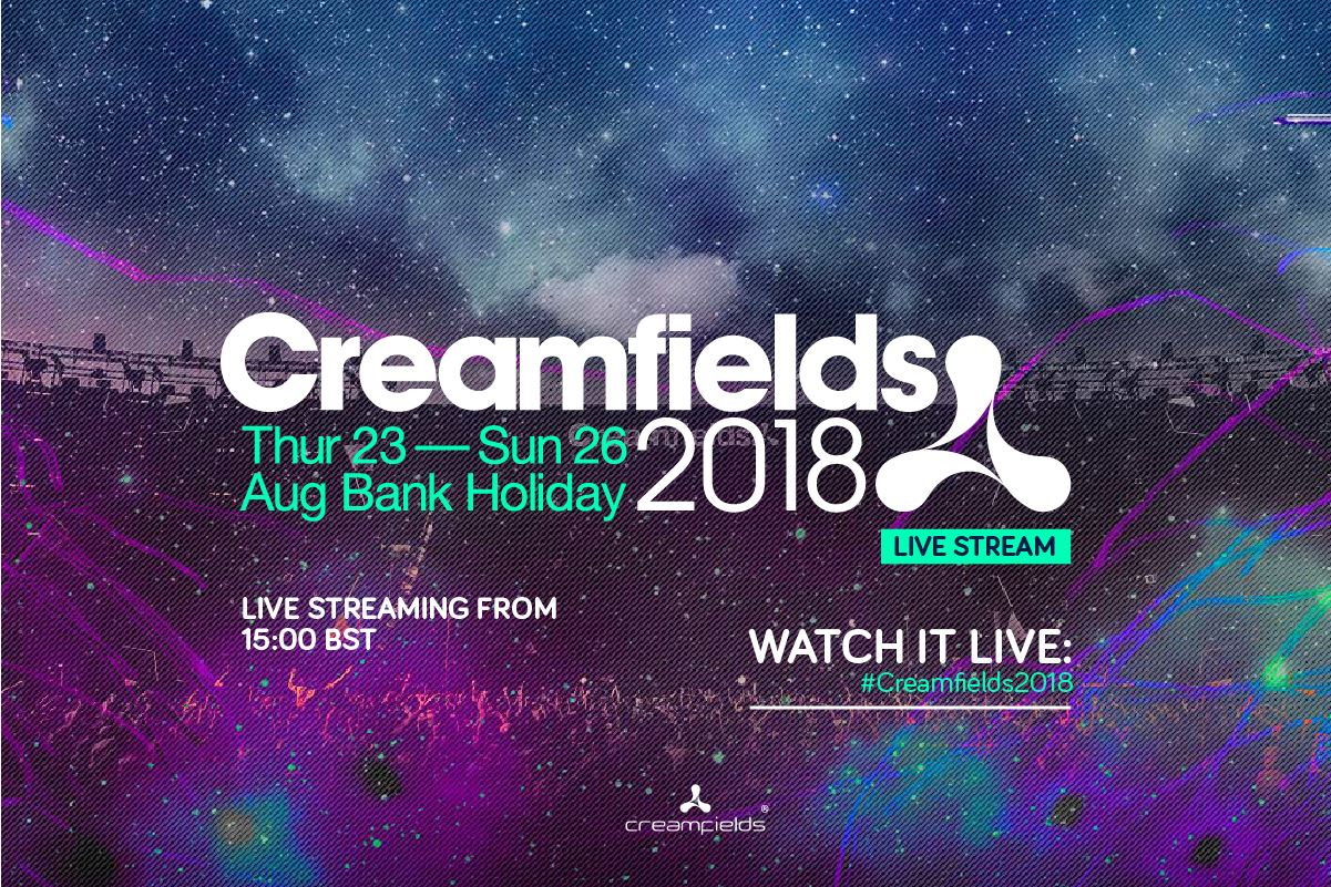 Watch #Creamfields2018 on the live stream today from 15:00 bst!