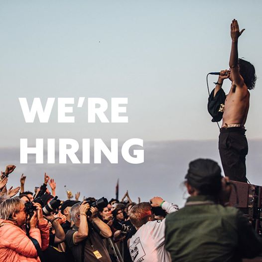We're hiring! If you want to join our team, working on EOTR and Larmer Tree Fest...