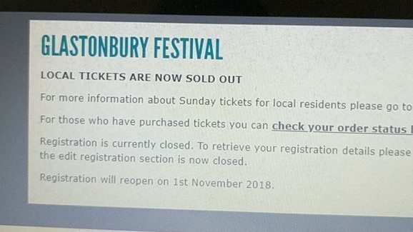 REDDIT FESTIVAL NEWS Glastonbury Festival locals left out of ticket sales, are people having a giggle and pretending to be locals for tickets?