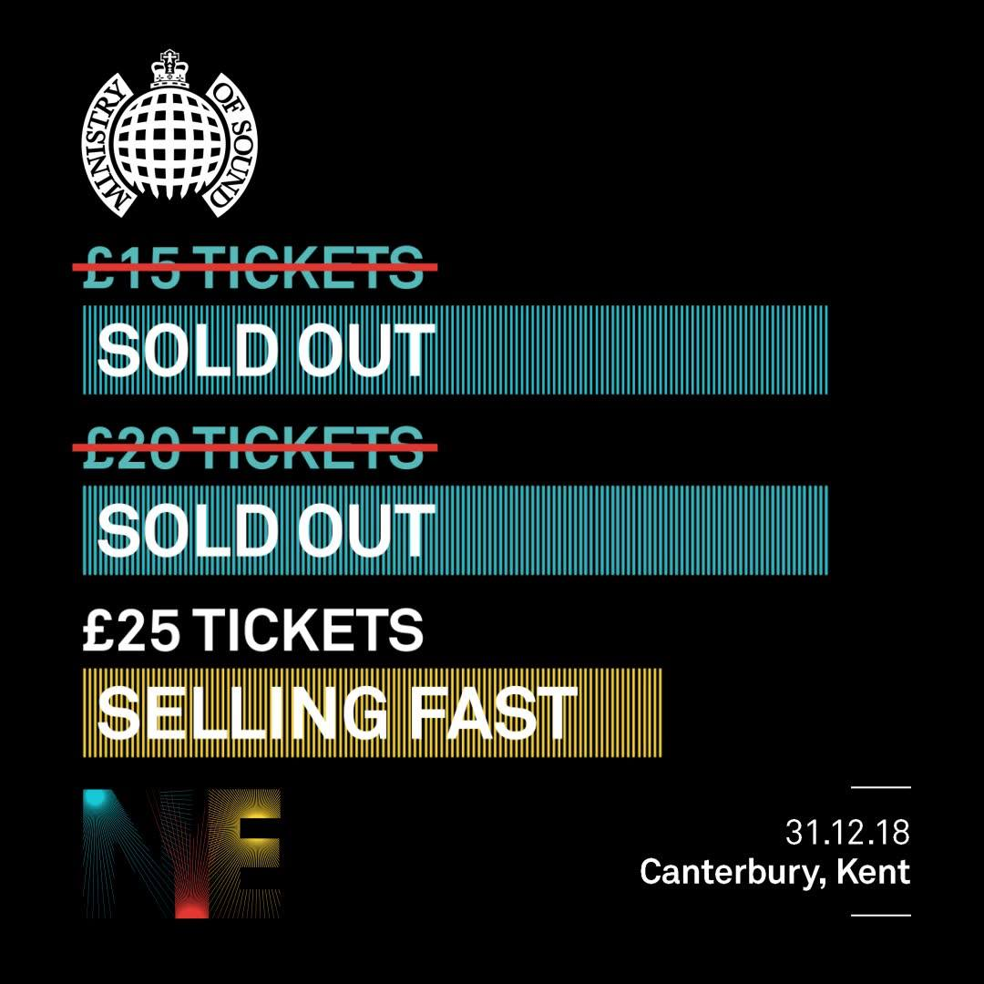 Don't hang about......Tickets for our huge NYE event with Ministry of Sound are ...