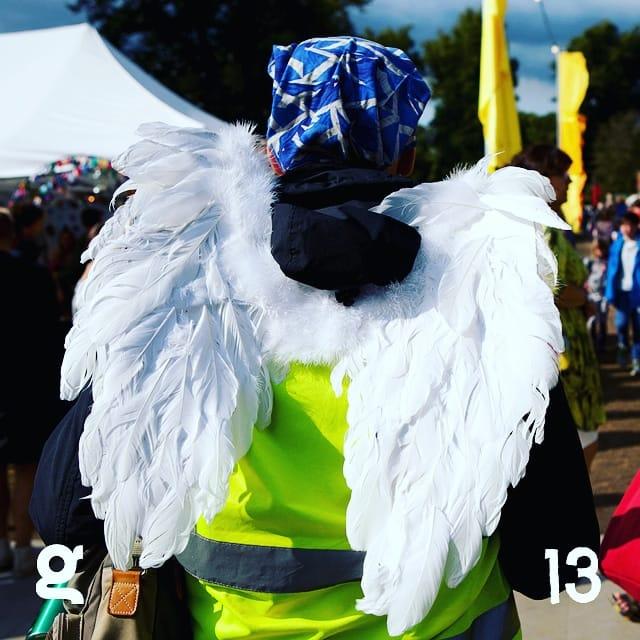 13. Heavenly Host #greenbeltadvent #gb19 #witandwisdom  Love our bin fairies!  S...