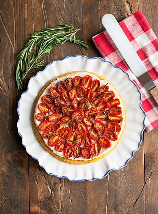 Doing #Veganuary? This weekend craft yourself one of these beautiful polenta tar...