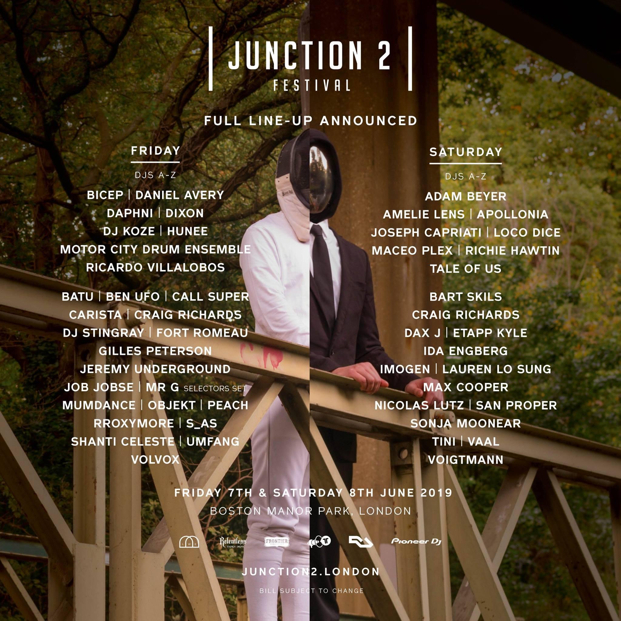 Full lineup announced for Junction 2 Festival 2019...