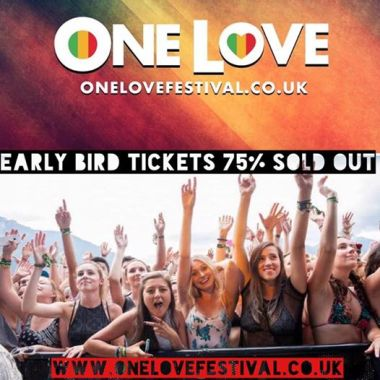 One Love Festival news: * Ticket Alert! Early Bird Tickets are running low – secure yours now for very b…