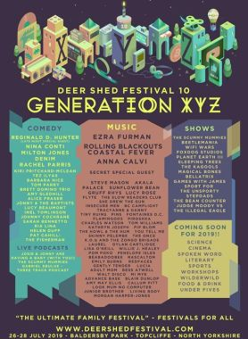 Deer Shed news : The music, comedy & shows line-up for our tenth anniversary edition of Deer …