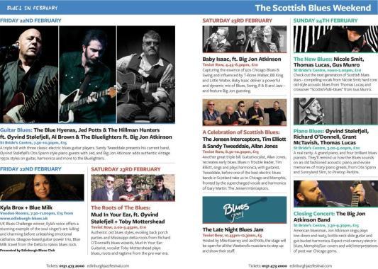 Edinburgh Jazz and Blues Festival news : NEXT WEEKEND…