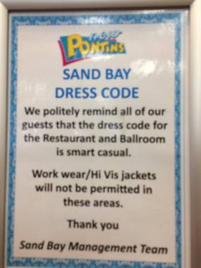 In Cider Festival news: Work wear and high vis strictly forbidden in the In Cider restaurant….