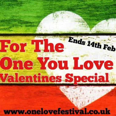 One Love Festival news: For the One Lovers our there – if you stuck for Valentines present – We can't th…