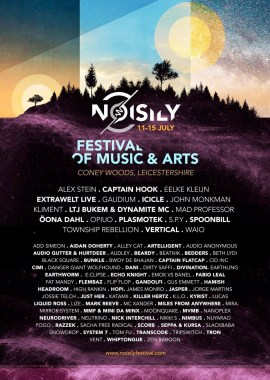 Noisily Festival of Music & Arts announces full line up for 2019