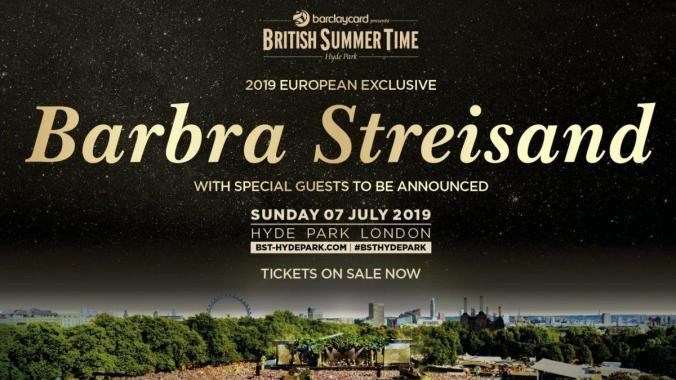 Barclaycard British Summertime news:  Tickets for Barbra are here!
