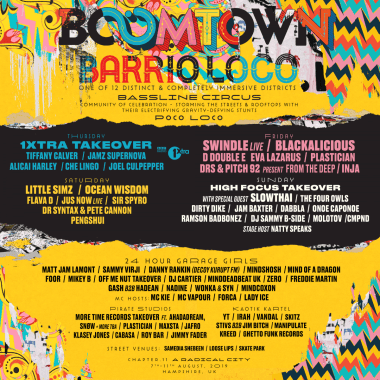 BOOMTOWN RELEASE EXPLOSIVE LINE UP OF HIP HOP, GARAGE AND GRIME FOR BARRIO LOCO DISTRICT