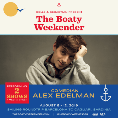 Boaty Weekender news: Who's excited to see comic Alex Edelman on our floating festival?! #theboatyweek…
