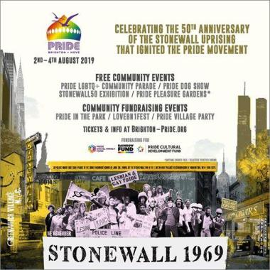 Brighton Pride news: Pride 2019 we  commemorate the 50th anniversary of the Stonewall uprising that i…
