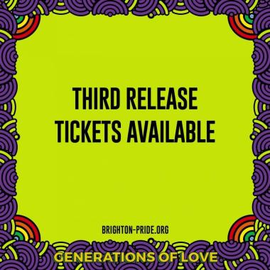 Brighton Pride news: Pride in the Park Festival tickets third release on Sale THIS THURSDAY from 12 M…