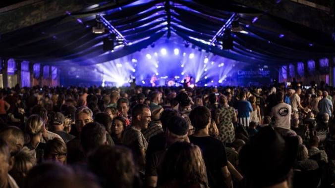 Cambridge Folk Festival news: An aswesome shot of Stage 1 in all its glory! #CamFolkFest #CoolAsFolk #MyFolkFe…