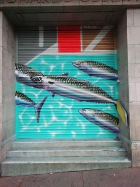 Coastal Currents news: Back on 18 February we had a visit from REQ, street artist – you may have spied …
