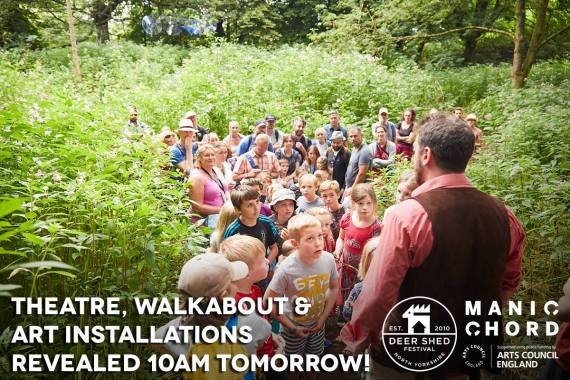 Deer Shed news : Tomorrow at 10am, we'll be revealing the Theatre, Walkabout & Art Installati…
