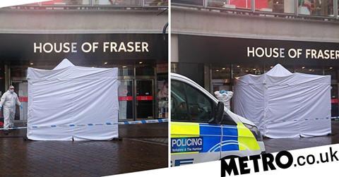 Deerstock news : Homeless woman found dead in doorway of House of Fraser