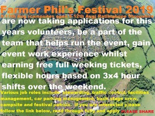Farmer Phil's festival news: we need to start getting applications in now good people,  the ones we have rece…
