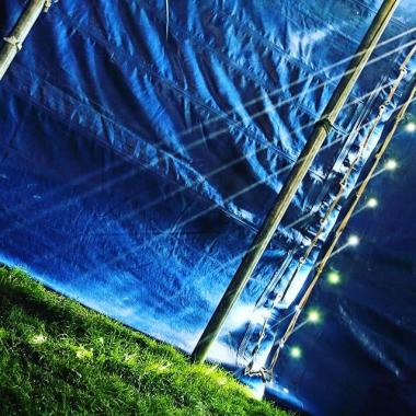 Greenbelt news : We love this snap from #gb18 inside The Glade. That's how the light gets in…. …