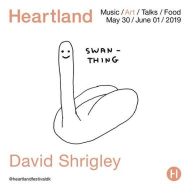 Heartland Festival news: We are proud to present renowned British artist David Shrigley as the first name…
