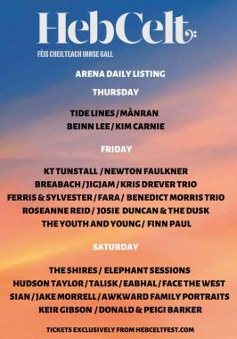 Hebcelt news : Daily listing for the festival arena – the story so far.