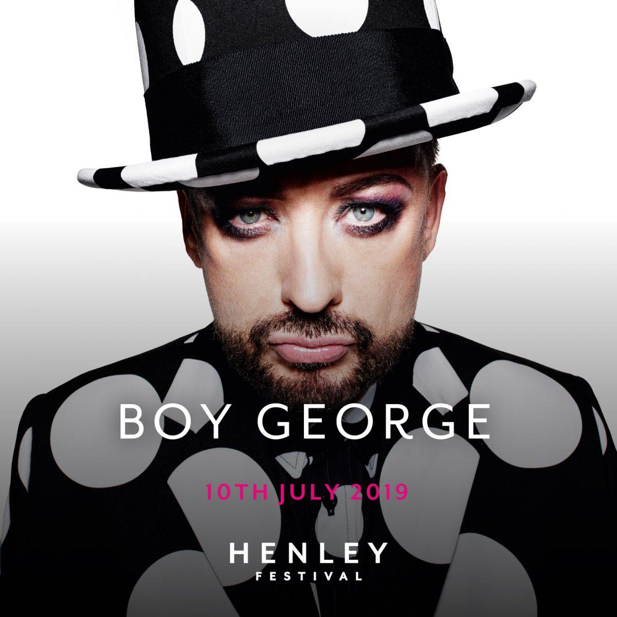 We can't wait to welcome the iconic Boy George to Henley Festival 2019!...