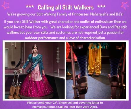 London Mela news: Calling all Stilt Walkers  We're growing our Stilt Walking family of Princesses,…