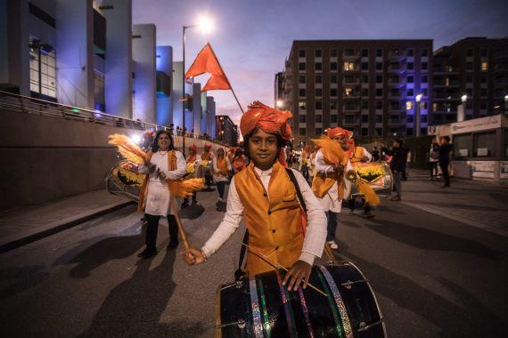 London Mela news: #ThrowbackThursday The parade at the #FestivalOfFireAndLight at Wembley Park 2 y…