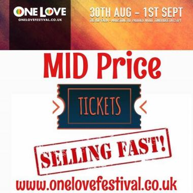 One Love Festival news: Huge response to our mid price ticket promo – if you want a discount best purcha…