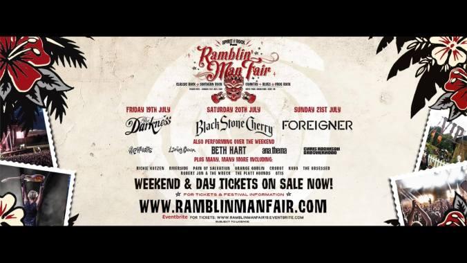 Ramblin' Man news :  Sunday's Special Guests at Ramblin' Man Fair 2019 are…