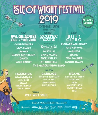 Ten more big names for Isle of Wight Festival 2019