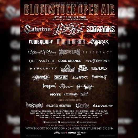 Bloodstock news: THE LINE UP SO FAR!… | Festival Flyer