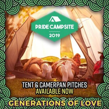 Brighton Pride news: The Pride campsite from just £14.50 pp pn….