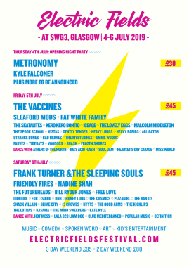 Electric Fields news : As you may have heard… now taking place across the whole of Glasgow's SWG3 thi…