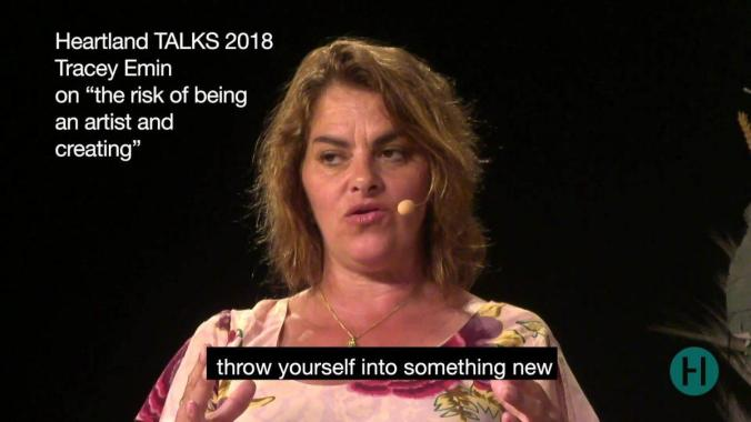 """Heartland Festival news: British artist Tracey Emin and Danish writer Peter Høeg discussed """"Why would you…"""