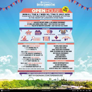 Barclaycard BST festival news : OPEN HOUSE IS BACK!…