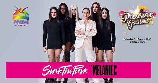 Brighton Pride news: Sink The Pink Ft. Melanie C at Pride Pleasure Gardens
