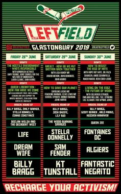 Glastonbury Festival news: Recharge your activism with this year's superb Glastonbury Left Field line-up! #…