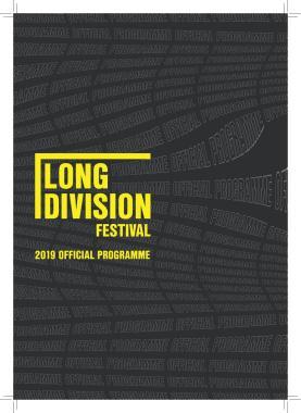 Long Division festival news : Long Division Festival 2019 Official Programme