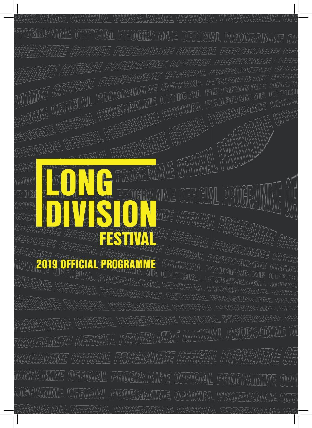 Long Division Festival 2019 Official Programme
