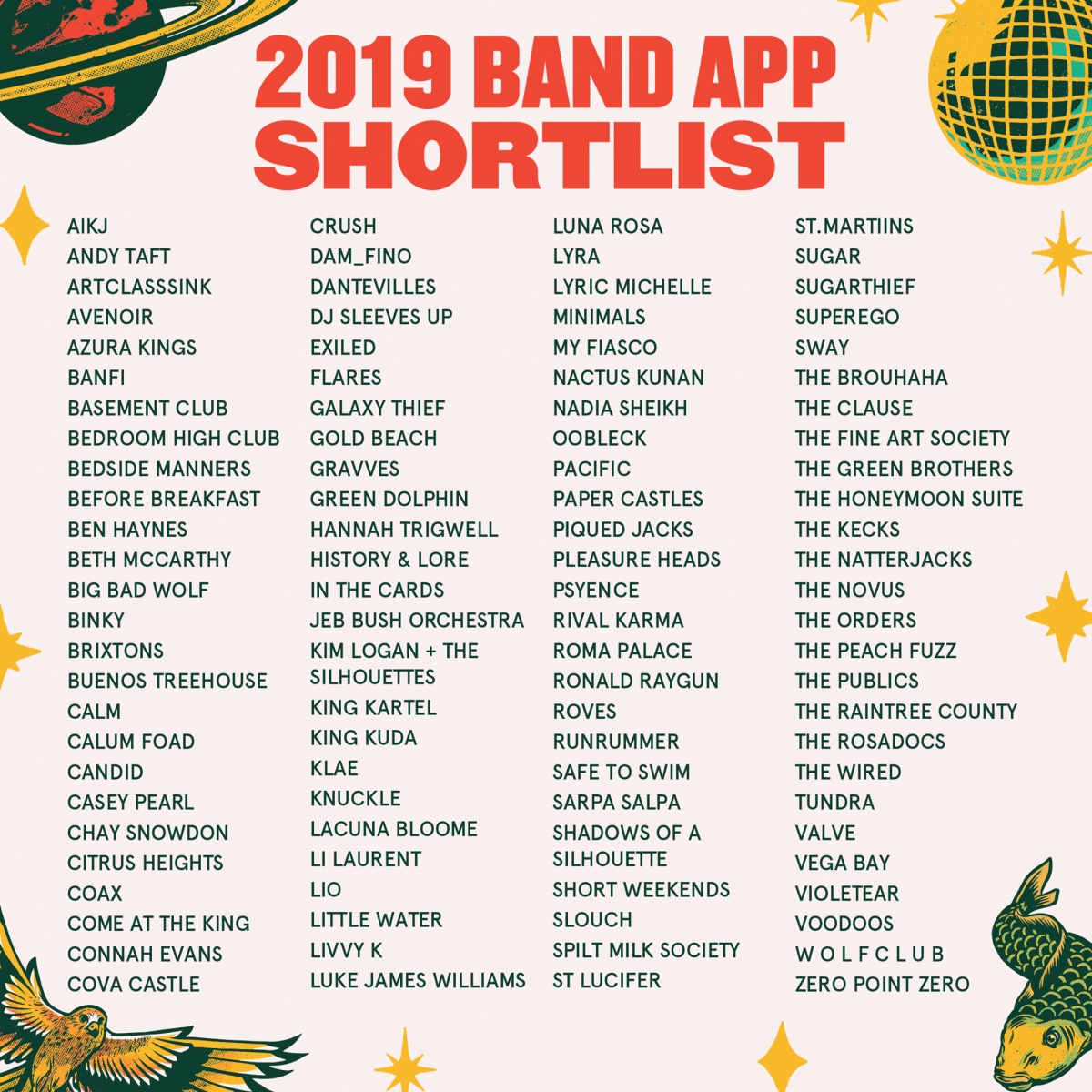 The Band App shortlist is IN....