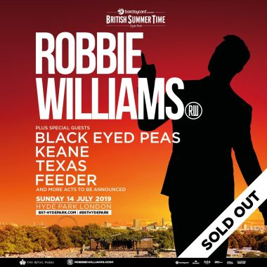 Barclaycard British Summertime news: And just like that… They're all gone! Tickets for Robbie Williams have now SOL…