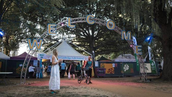 Cambridge Folk Festival news: Who's excited to walk under the #CamFolkFest19 welcome arch in a few months!!! (…