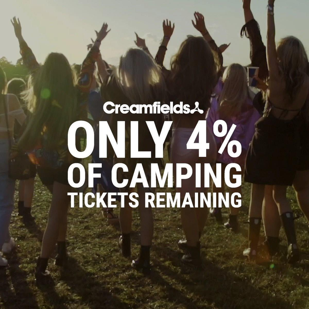 4% Of Camping Tickets Remaining