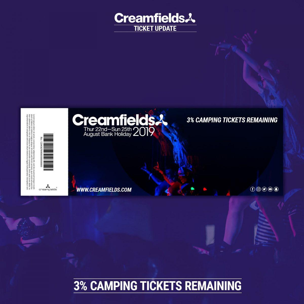 Only 3% of all camping tickets remaining....